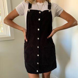 Topshop pinafore corduroy dress, size 6